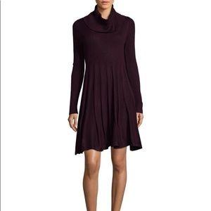 Calvin Klein cowl neck sweater dress purple size L